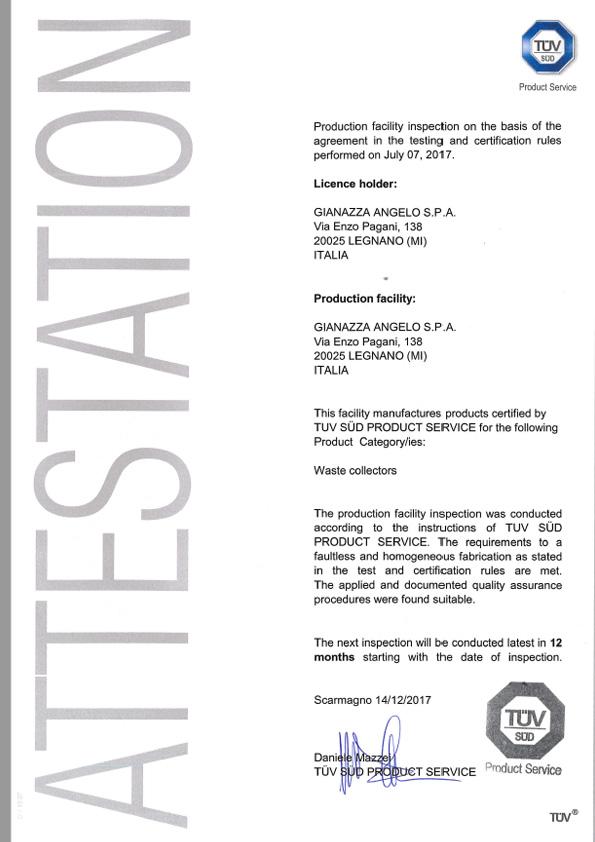 certificato tuv